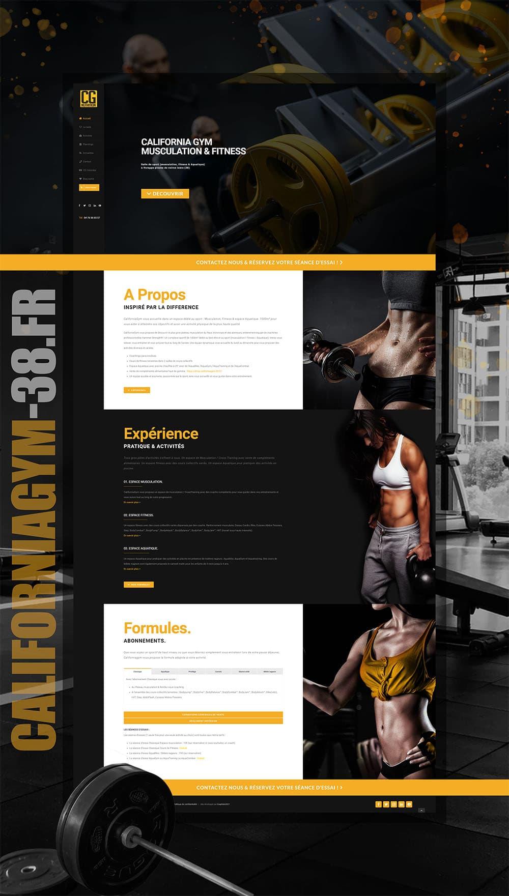 Maquette de la refonte du design du site