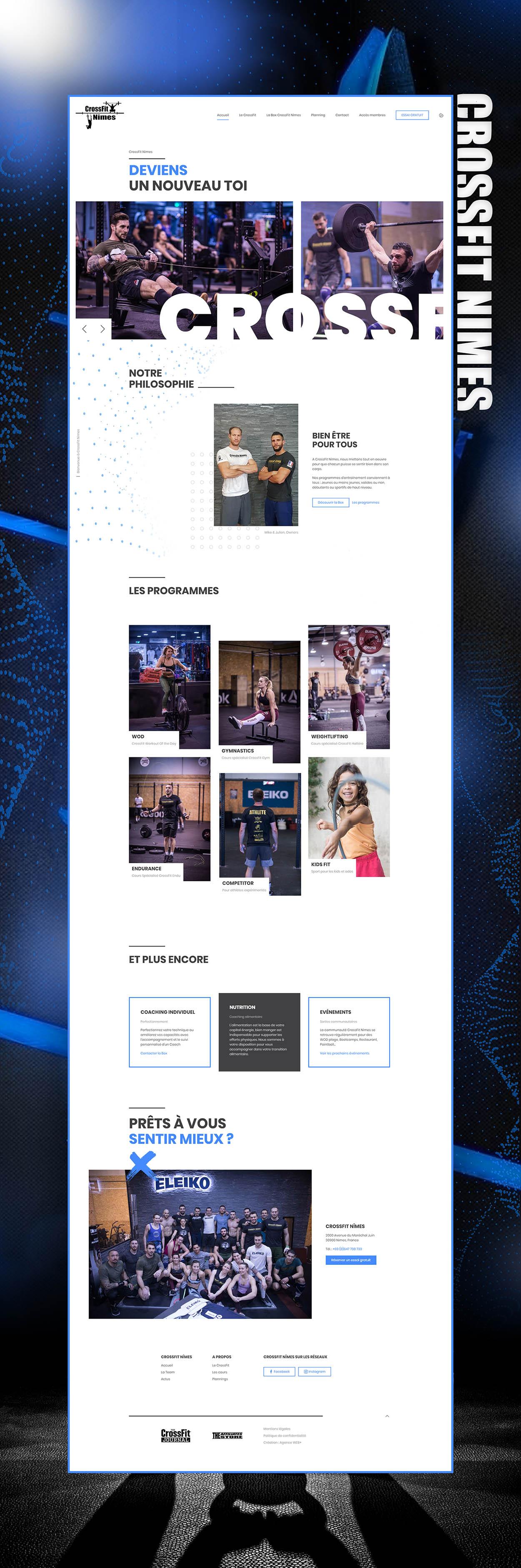 Maquette site Internet : CrossFit Nîmes