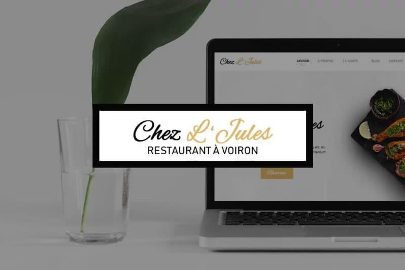 Création de maquette de site Internet : Chez l'Jules Voiron