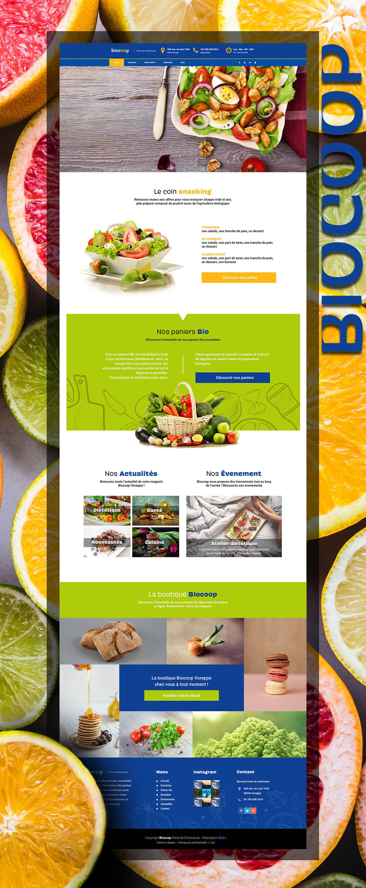 Maquette site Internet : Biocoop