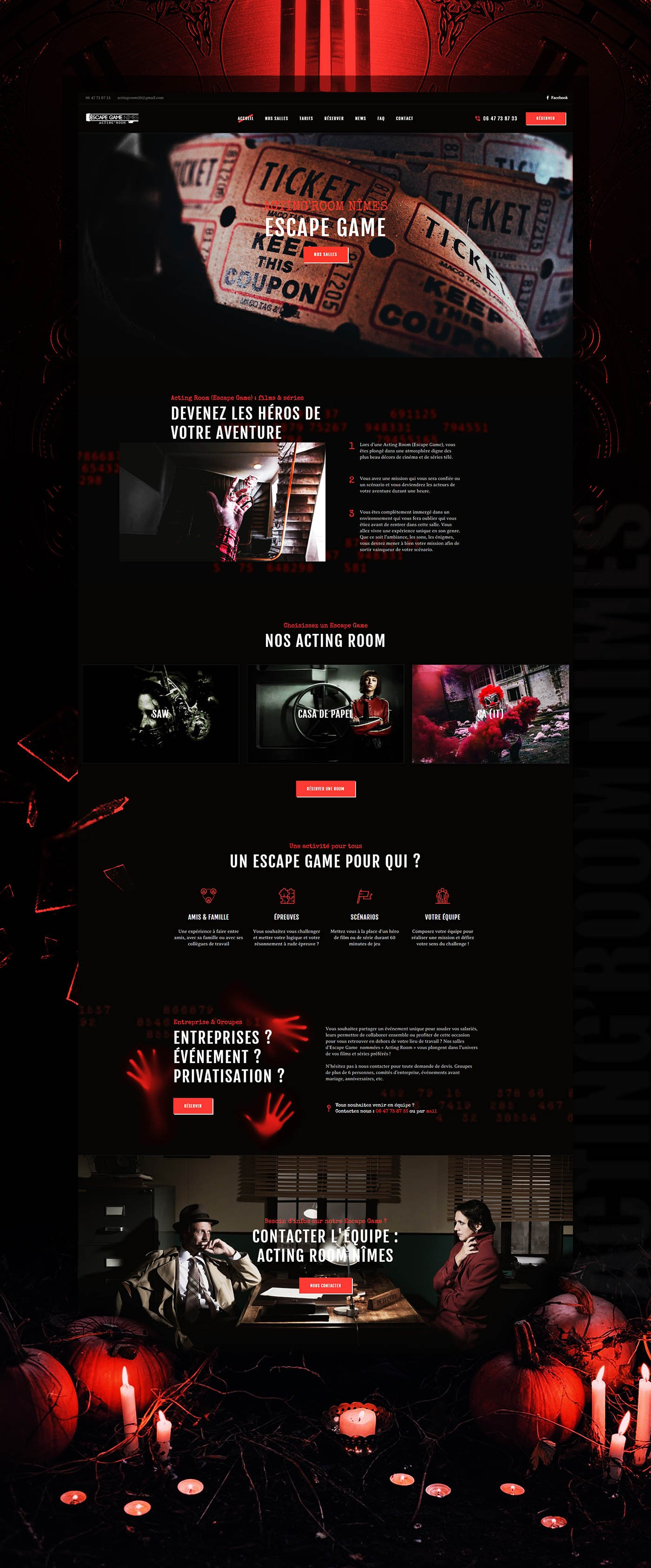 Maquette site Internet : ActingRoom