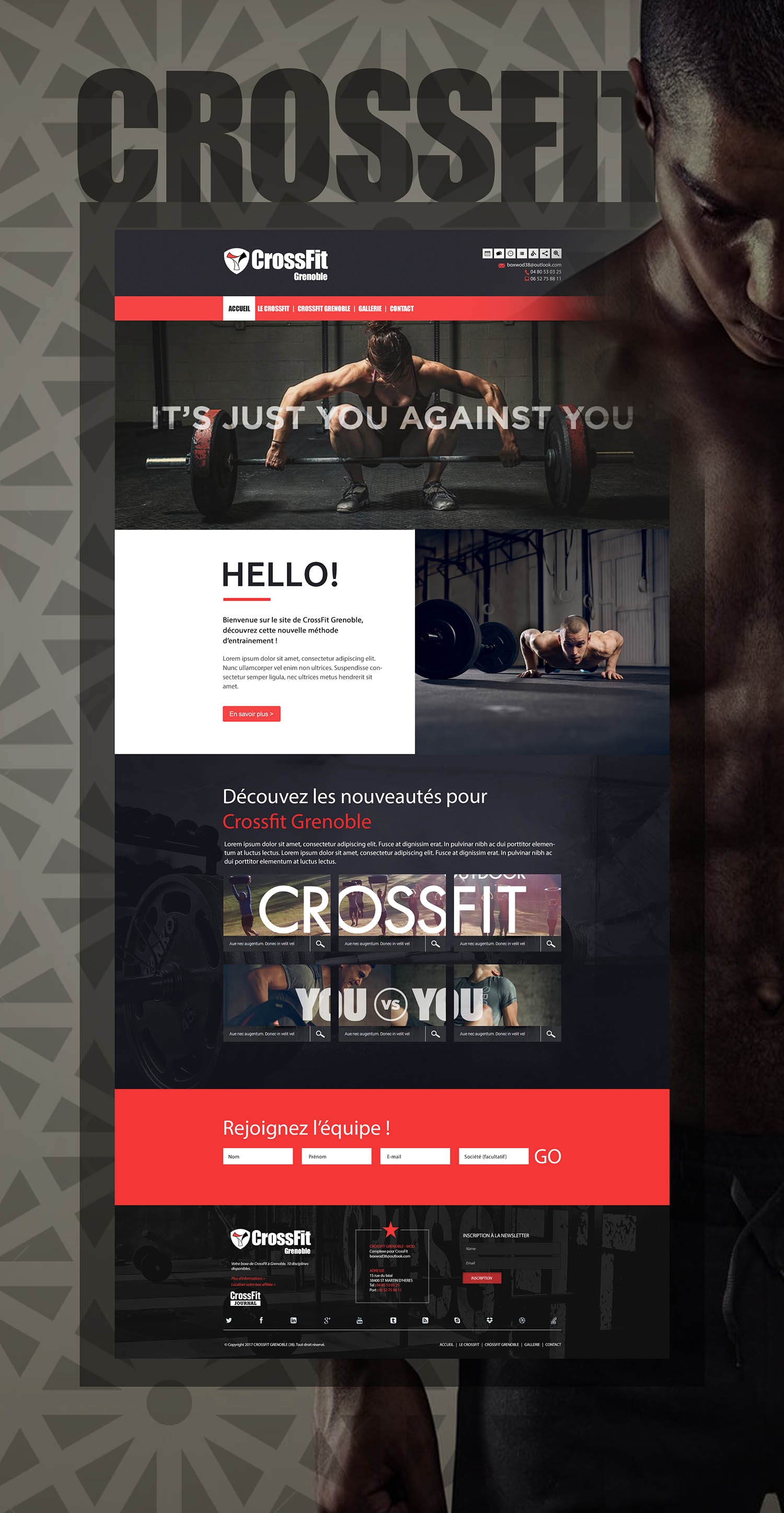 Maquette site Internet : CrossFit Grenoble