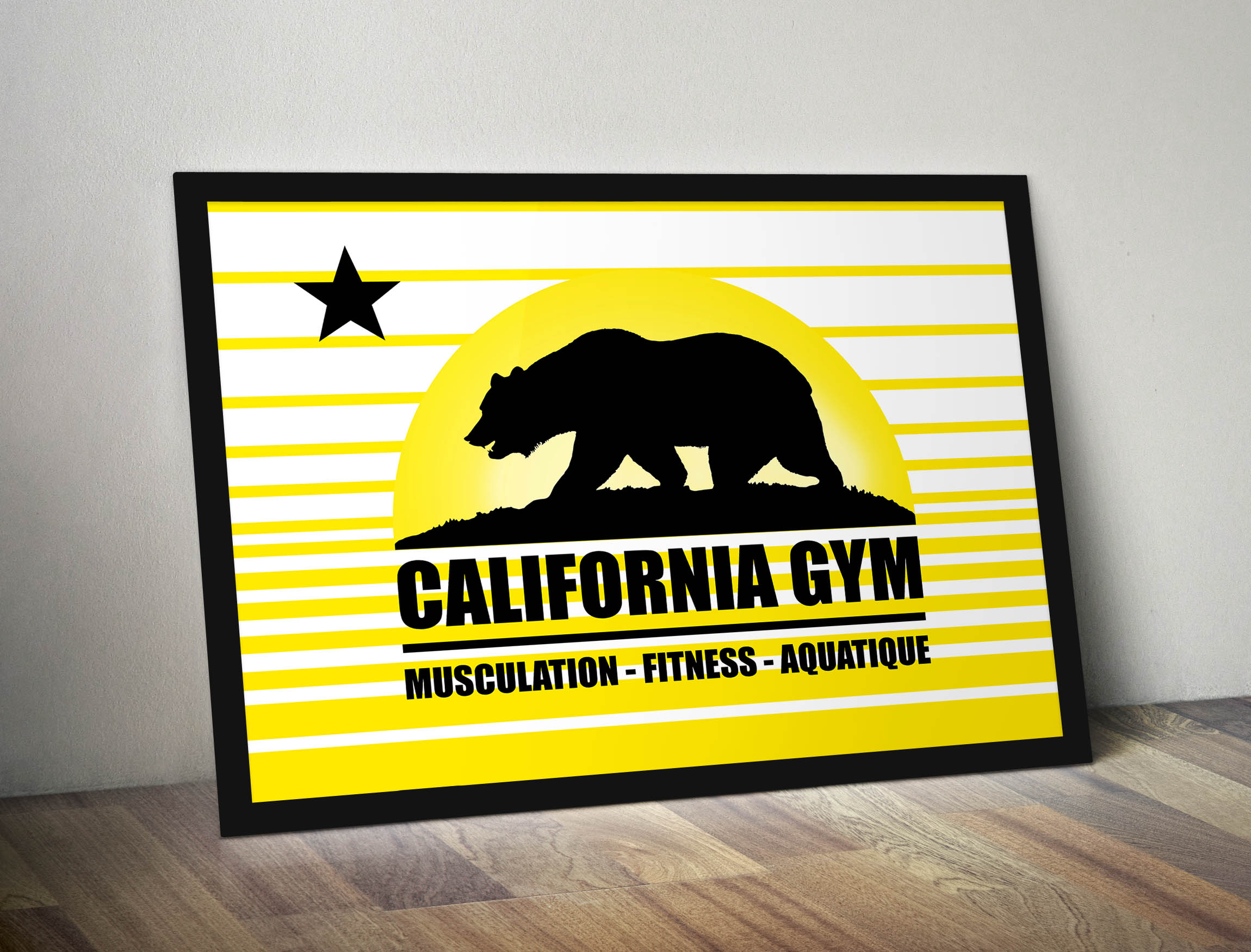 Illustration : CaliforniaGym Poster