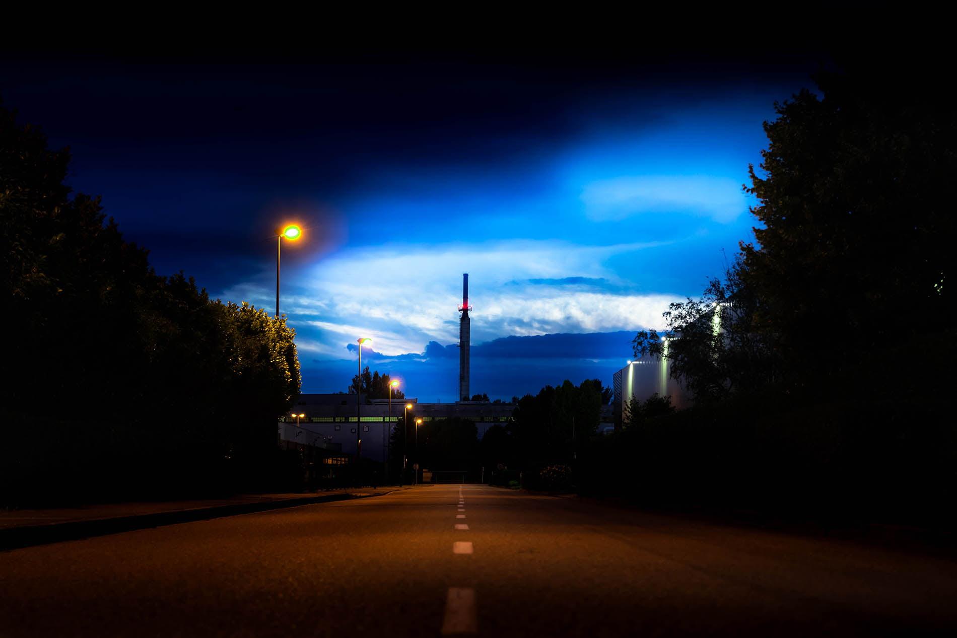 Photographie d'un Paysage urbain de nuit