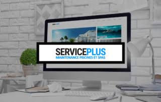 Présentation : Service plus Piscine, maquette du site