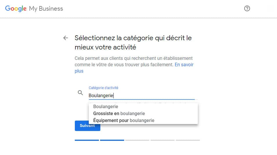 Activité Google My Business