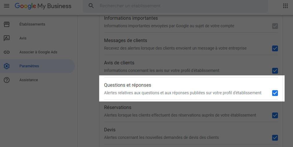 11 - question et réponses google comment activer les notifications