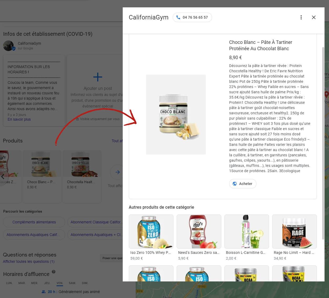 12 - produits et services sur google my business