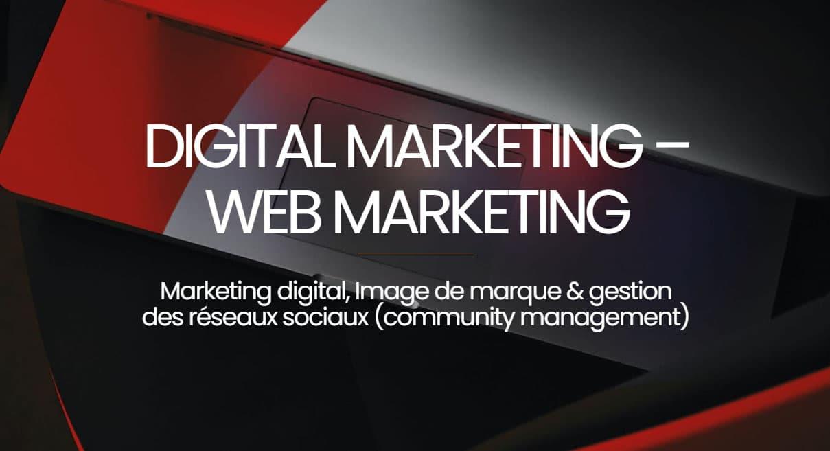 digital marketing et webmarketing a voreppe 38